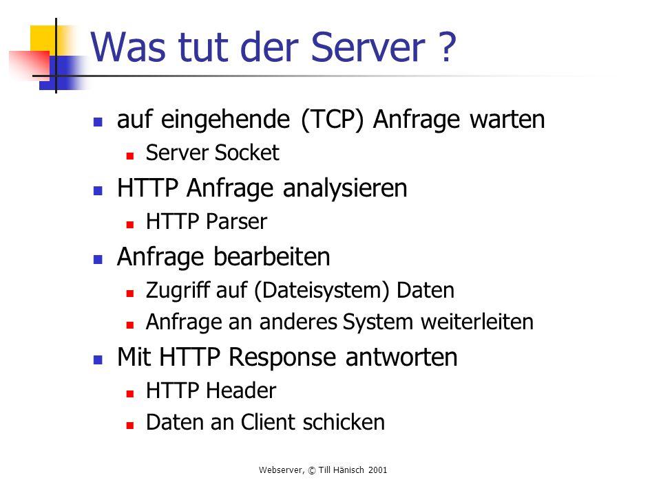 Was tut der Server auf eingehende (TCP) Anfrage warten