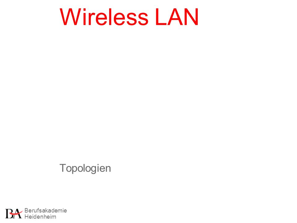 Wireless LAN Topologien