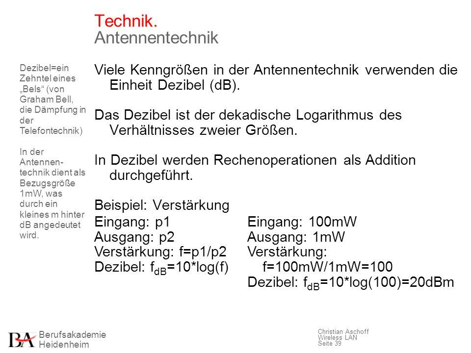 Technik. Antennentechnik