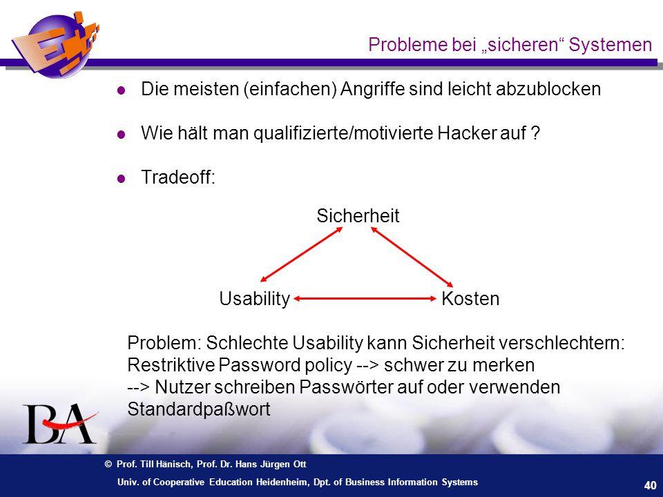 """Probleme bei """"sicheren Systemen"""