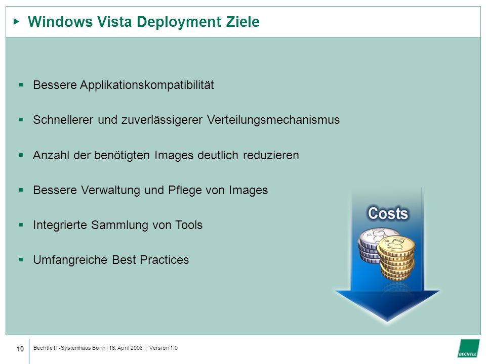 Windows Vista Deployment Ziele
