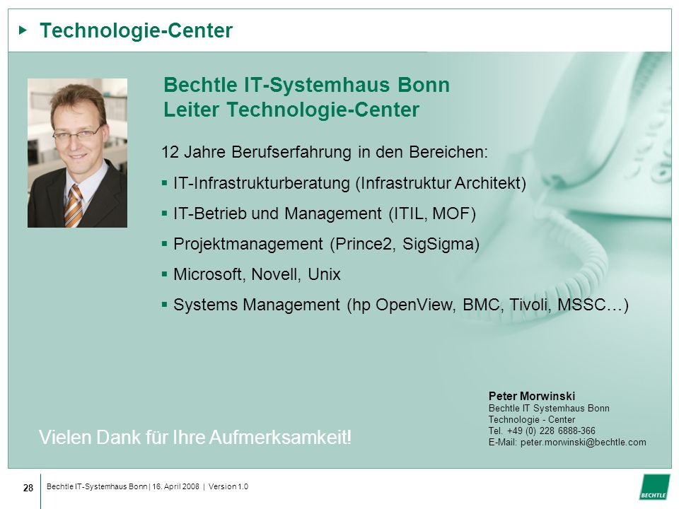 Bechtle IT-Systemhaus Bonn Leiter Technologie-Center