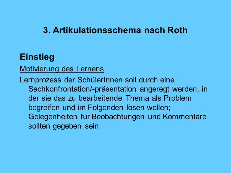 3. Artikulationsschema nach Roth