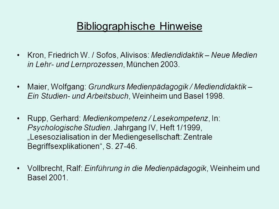 Bibliographische Hinweise
