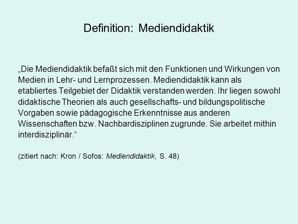 Definition: Mediendidaktik