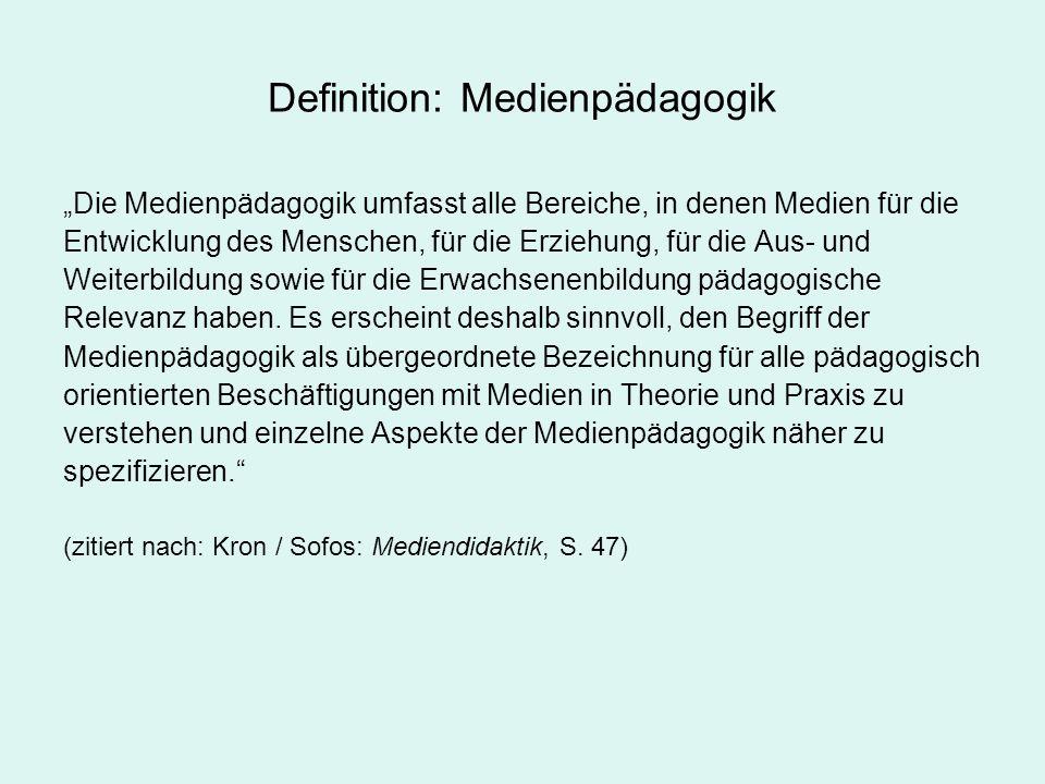 Definition: Medienpädagogik