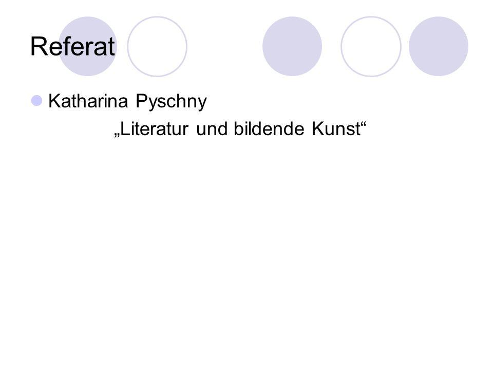 """""""Literatur und bildende Kunst"""