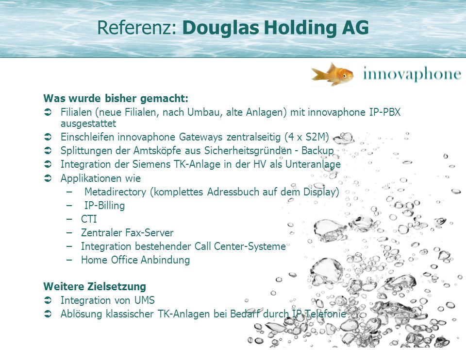 Referenz: Douglas Holding AG