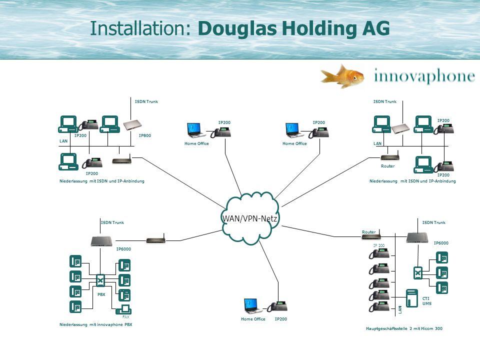 Installation: Douglas Holding AG