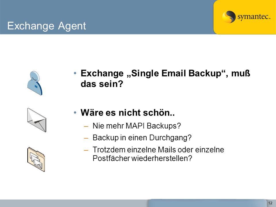 """Exchange Agent Exchange """"Single Email Backup , muß das sein"""