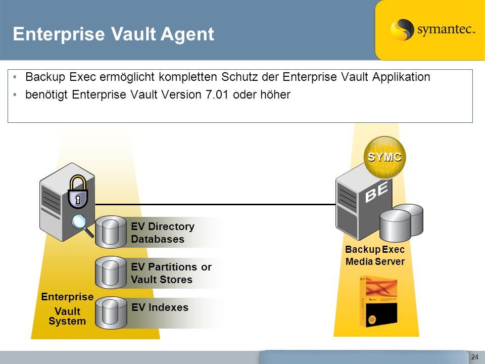 BE Enterprise Vault Agent