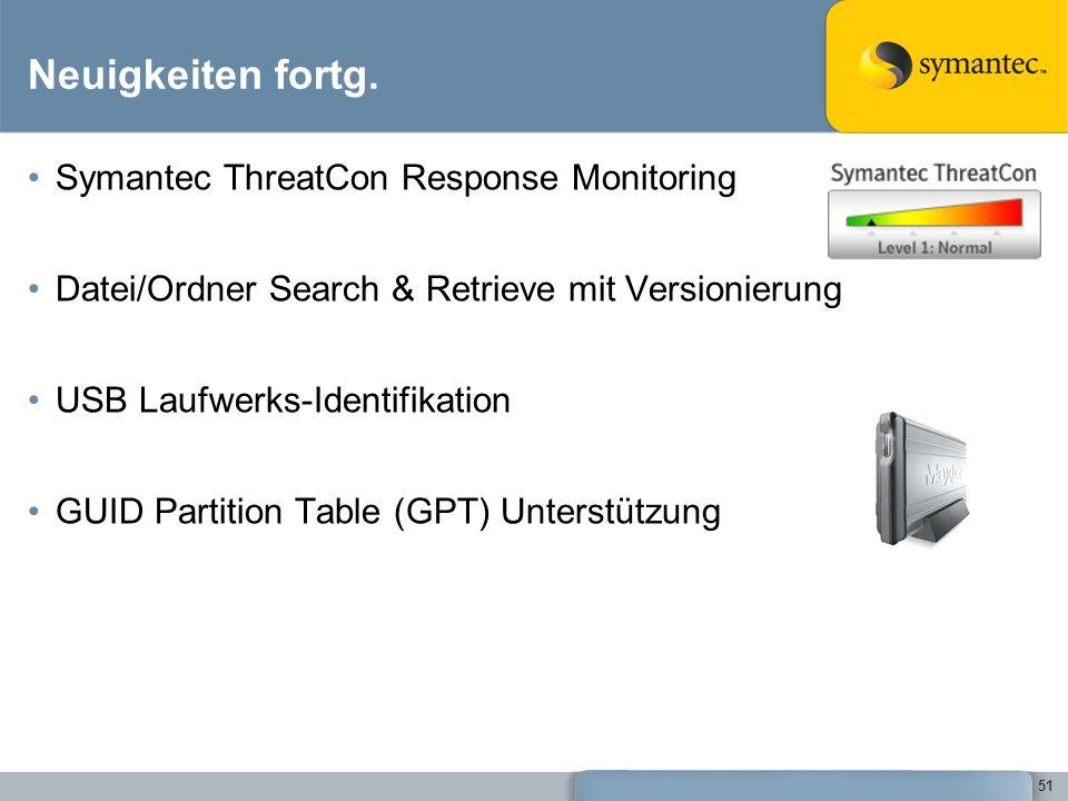 Neuigkeiten fortg. Symantec ThreatCon Response Monitoring