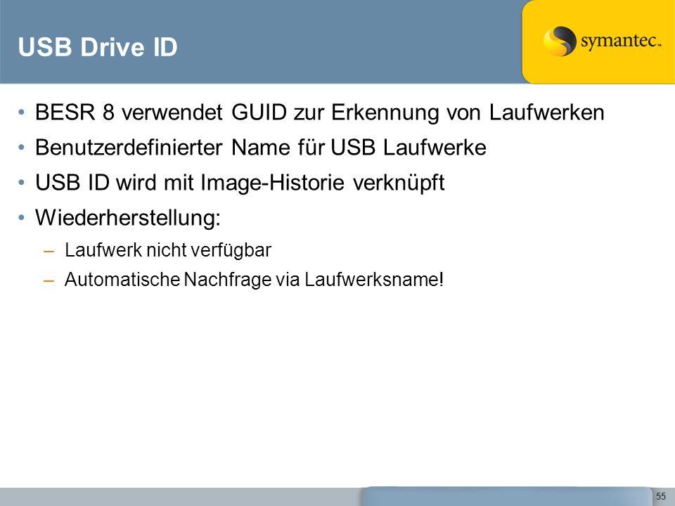 USB Drive ID BESR 8 verwendet GUID zur Erkennung von Laufwerken