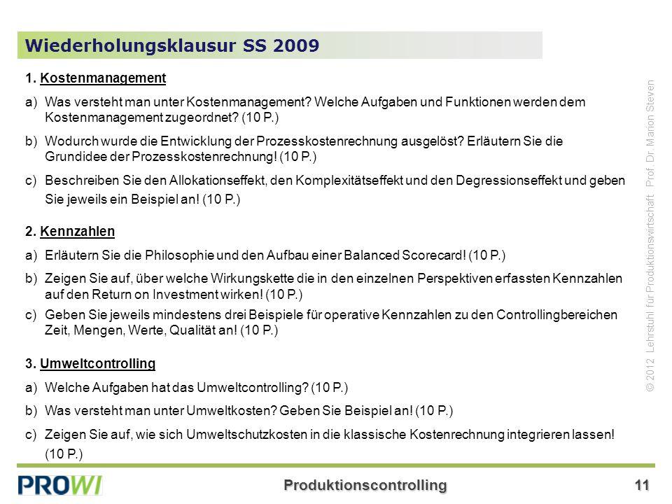 Wiederholungsklausur SS 2009