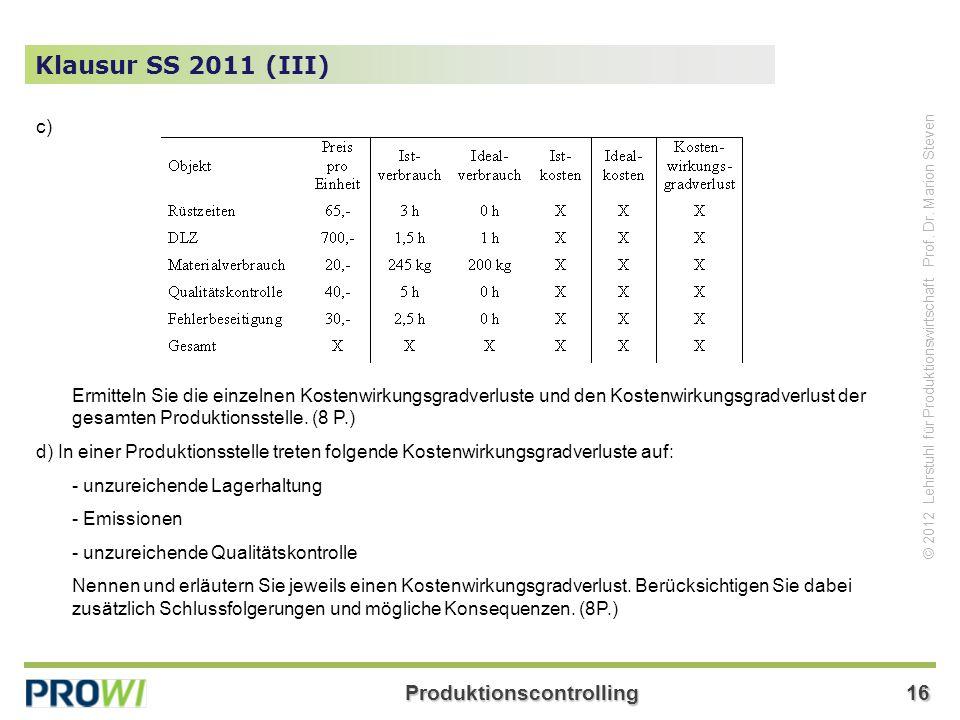 Klausur SS 2011 (III) c)