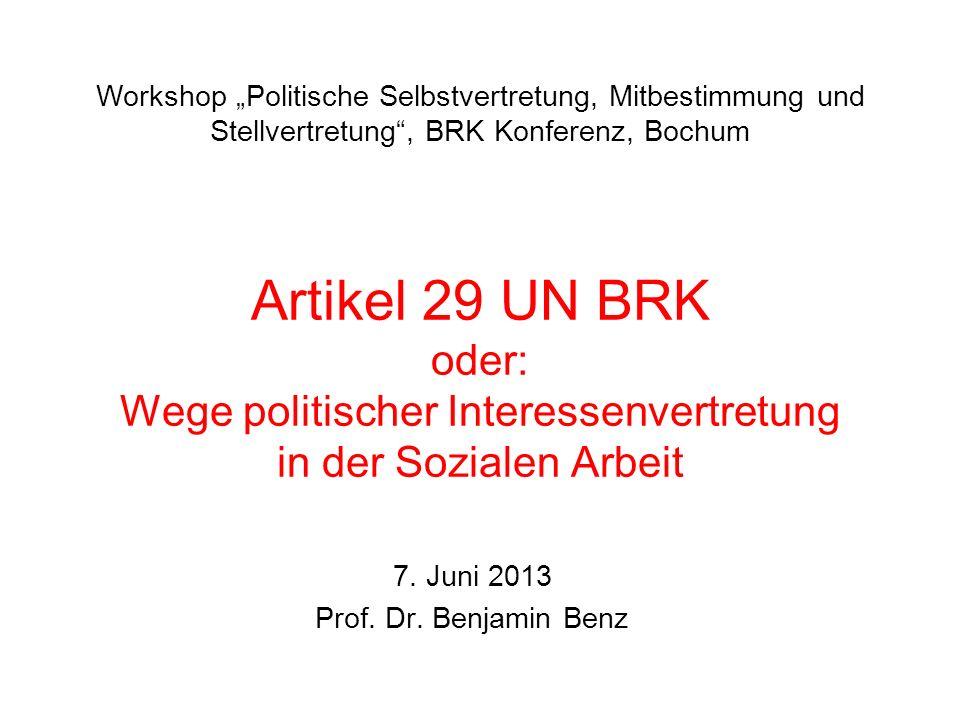 7. Juni 2013 Prof. Dr. Benjamin Benz