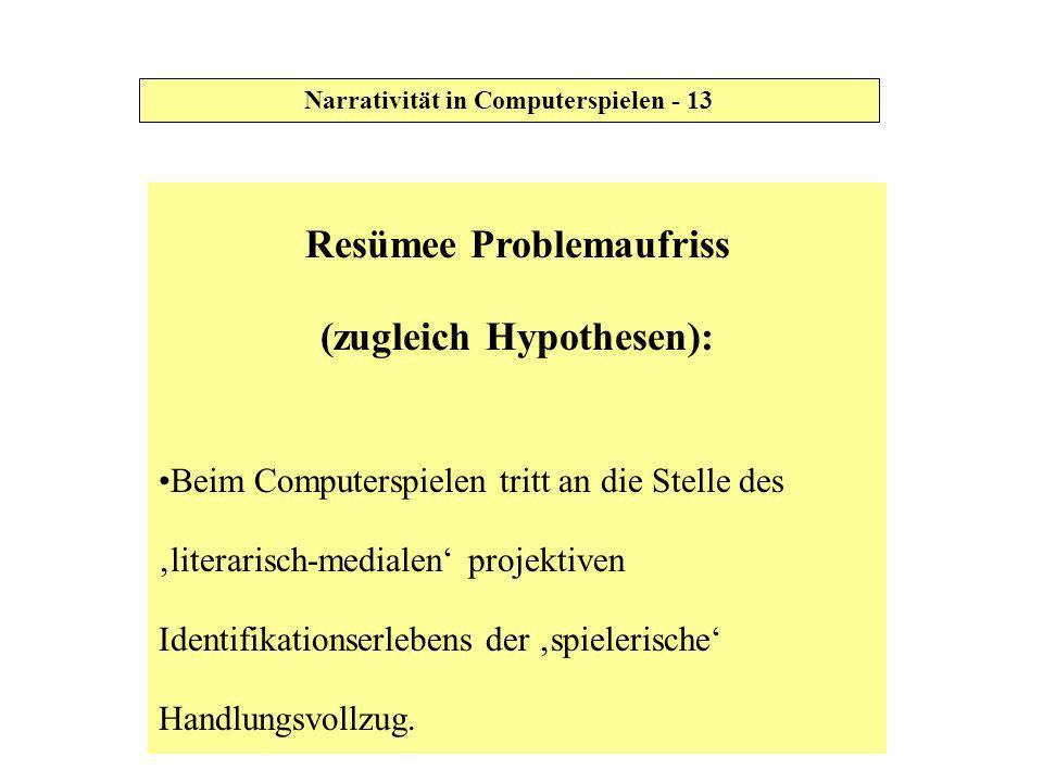 Resümee Problemaufriss (zugleich Hypothesen):