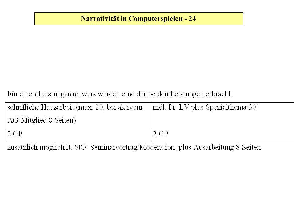 Narrativität in Computerspielen - 24