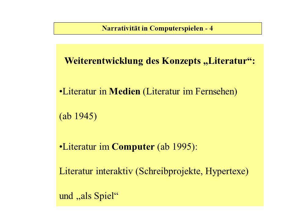 """Weiterentwicklung des Konzepts """"Literatur :"""