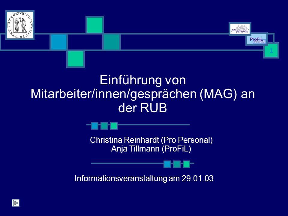 Einführung von Mitarbeiter/innen/gesprächen (MAG) an der RUB