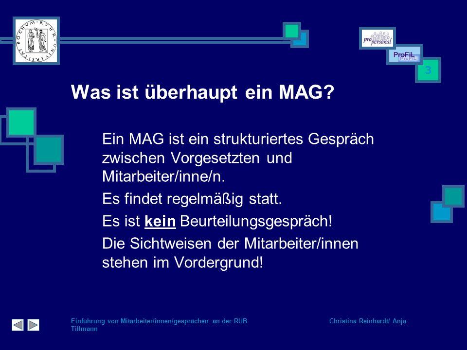 Was ist überhaupt ein MAG