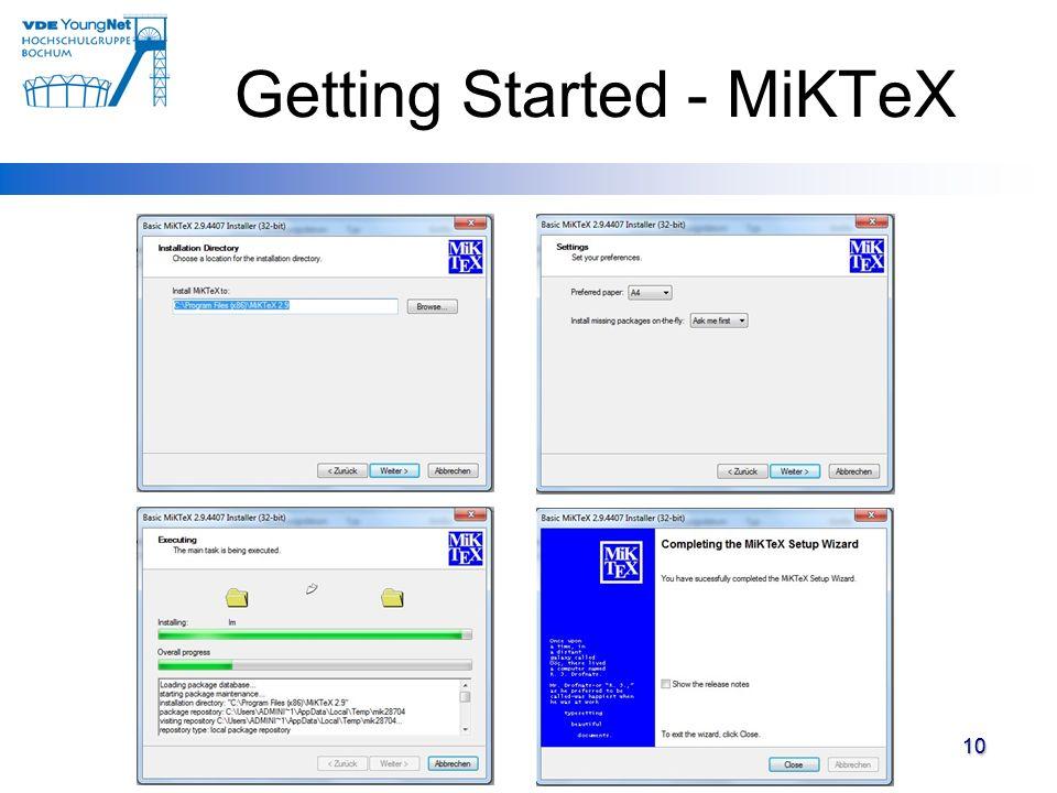 Getting Started - MiKTeX