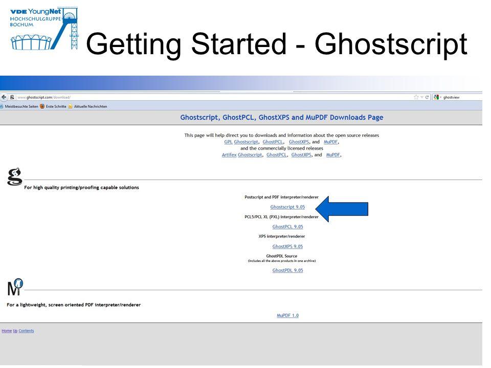 Getting Started - Ghostscript