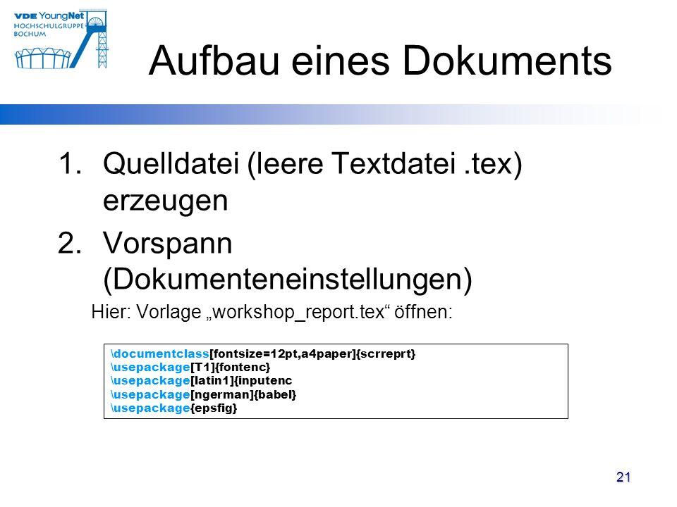 Aufbau eines Dokuments