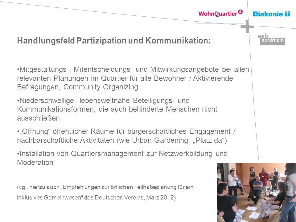 Handlungsfeld Partizipation und Kommunikation: