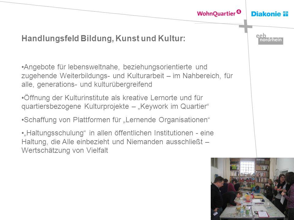 Handlungsfeld Bildung, Kunst und Kultur: