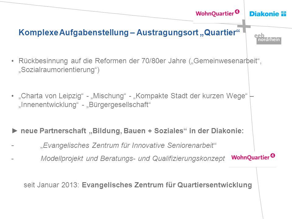 seit Januar 2013: Evangelisches Zentrum für Quartiersentwicklung