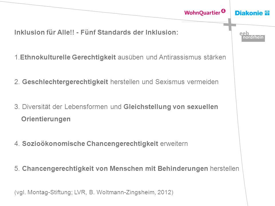 Inklusion für Alle!! - Fünf Standards der Inklusion: