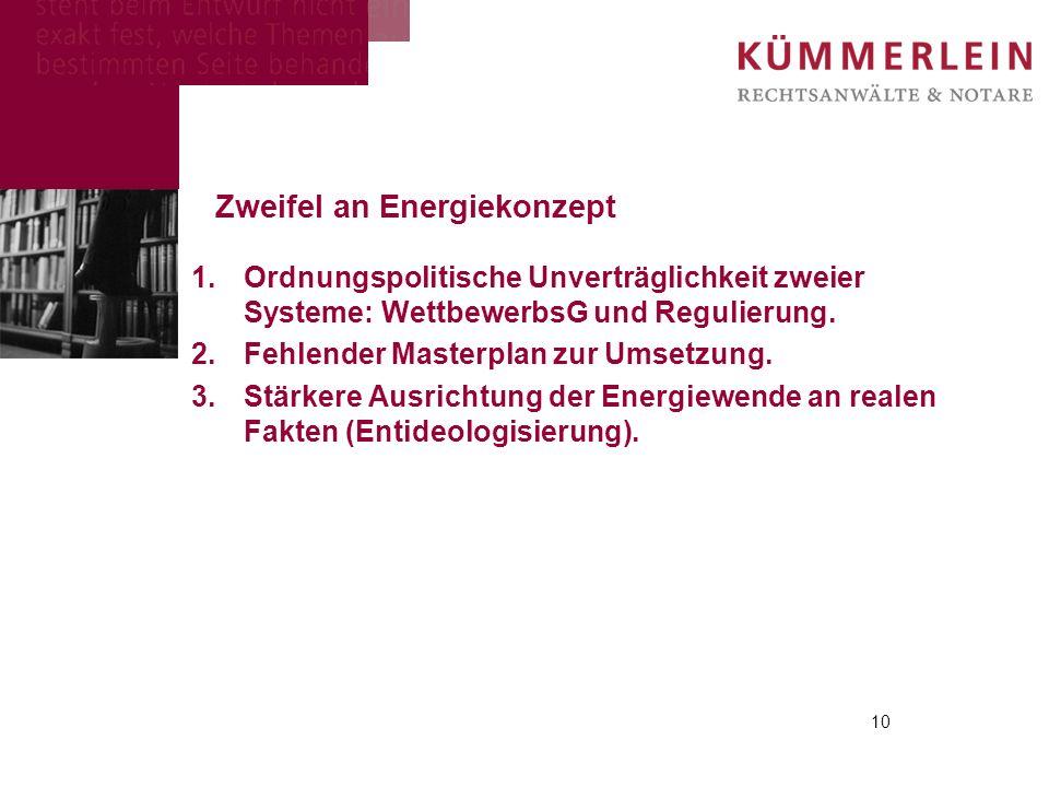 Zweifel an Energiekonzept