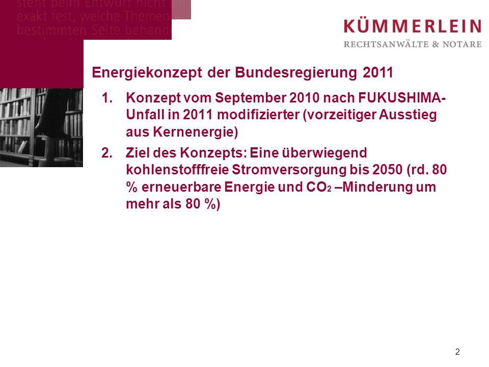 Energiekonzept der Bundesregierung 2011
