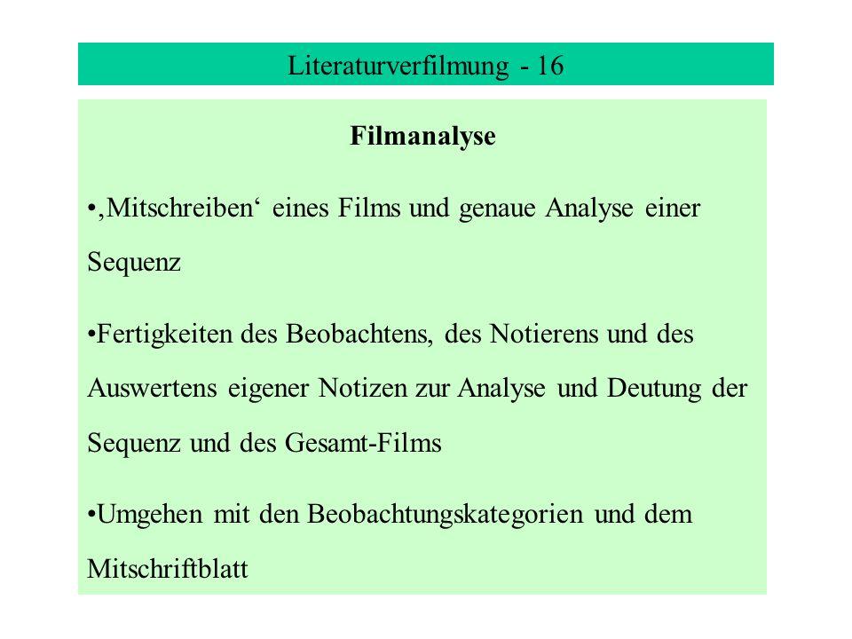 Literaturverfilmung - 16