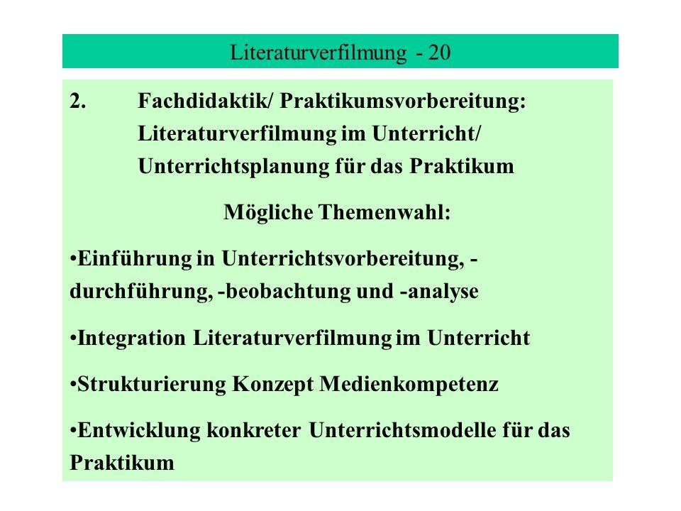 Literaturverfilmung - 20