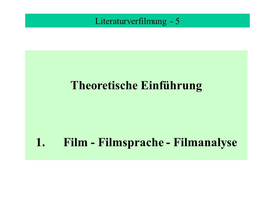 Theoretische Einführung 1. Film - Filmsprache - Filmanalyse