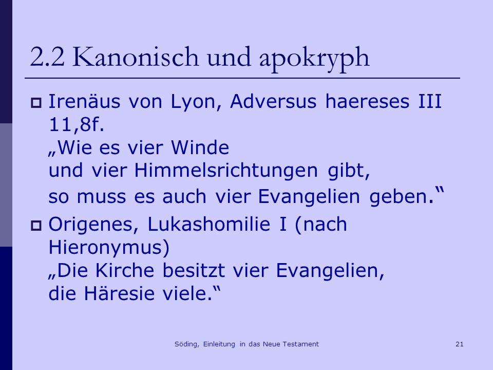 2.2 Kanonisch und apokryph