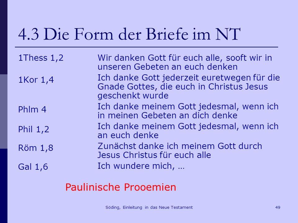 4.3 Die Form der Briefe im NT