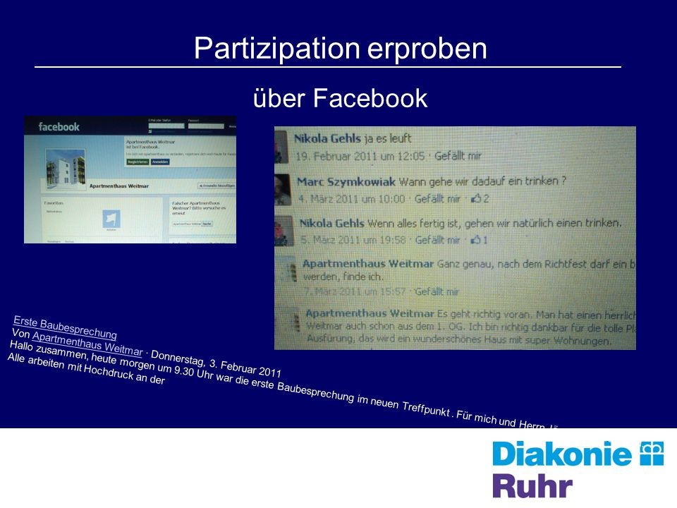 Partizipation erproben über Facebook