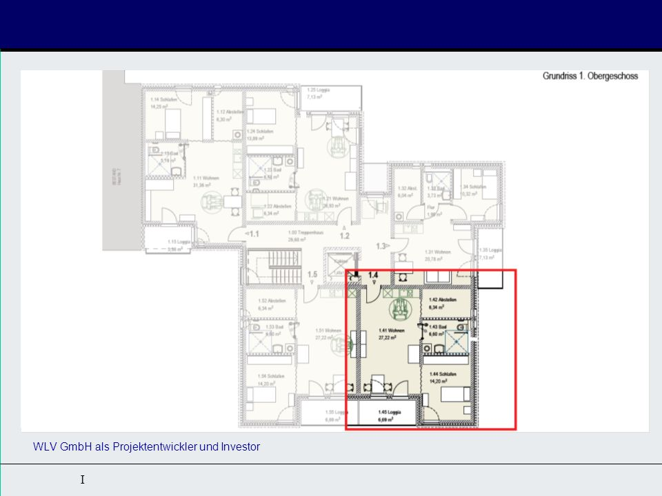 Kurzbeschreibung: 14 Apartments für Rollstuhlfahrer (DIN 18040-2R) 2 barrierefreie Apartments (DIN 18040-2)