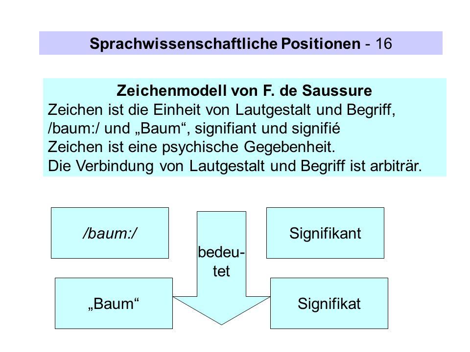 Zeichenmodell von F. de Saussure