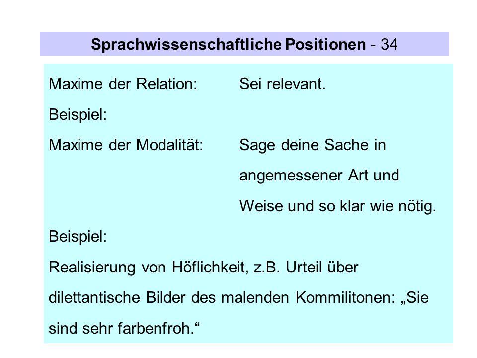 Sprachwissenschaftliche Positionen - 34