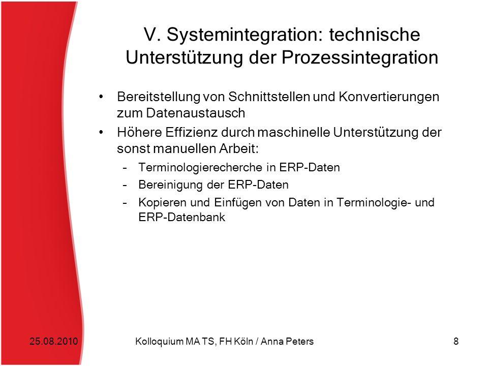 V. Systemintegration: technische Unterstützung der Prozessintegration