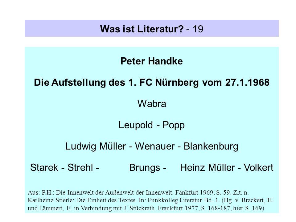 Die Aufstellung des 1. FC Nürnberg vom 27.1.1968 Wabra