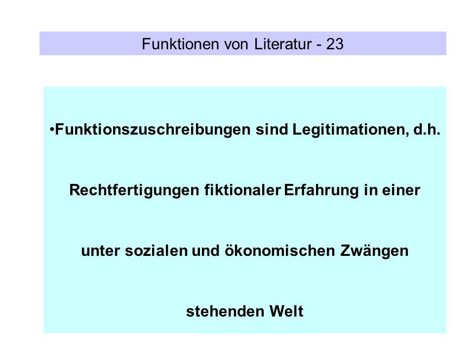 Funktionen von Literatur - 23