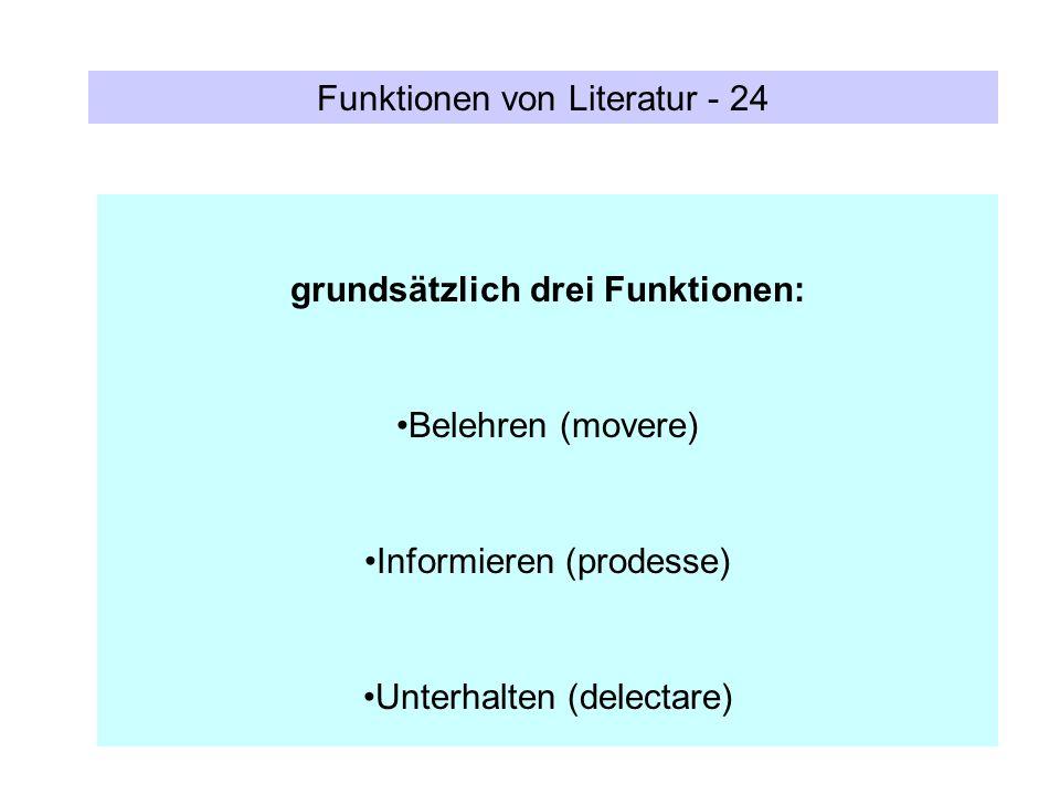 grundsätzlich drei Funktionen: