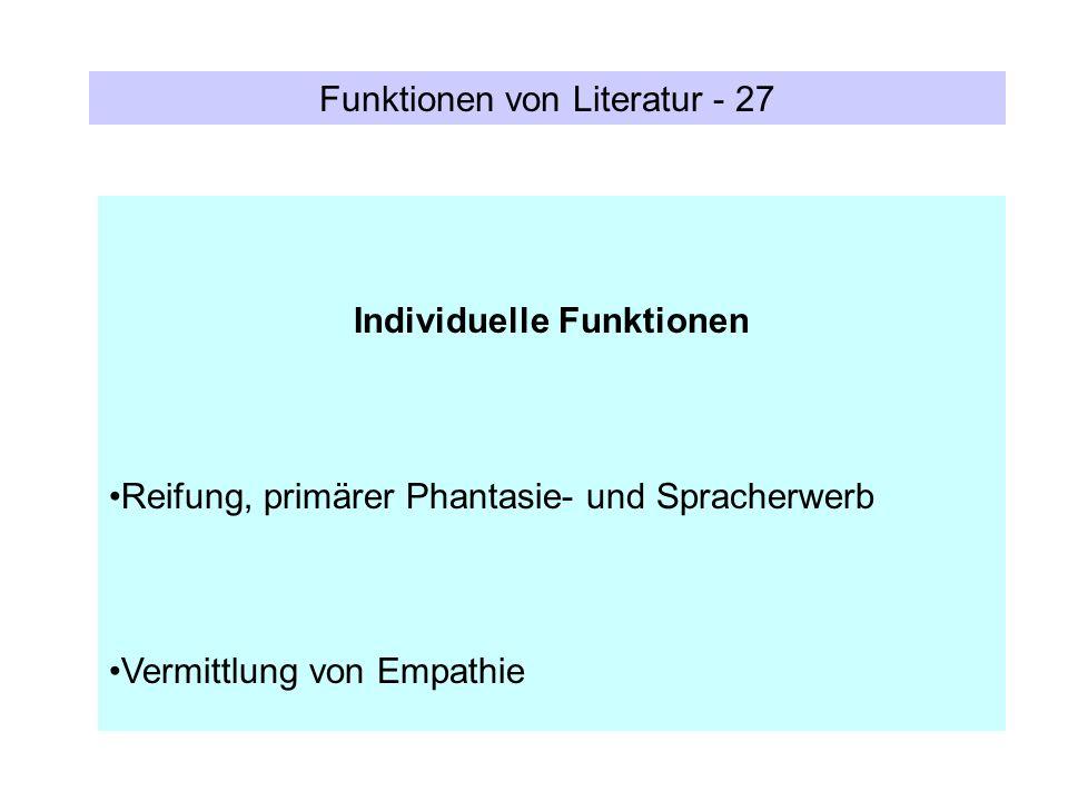 Individuelle Funktionen
