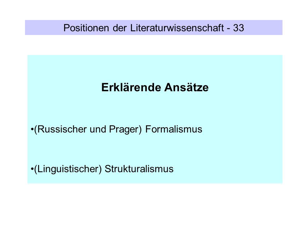 Positionen der Literaturwissenschaft - 33