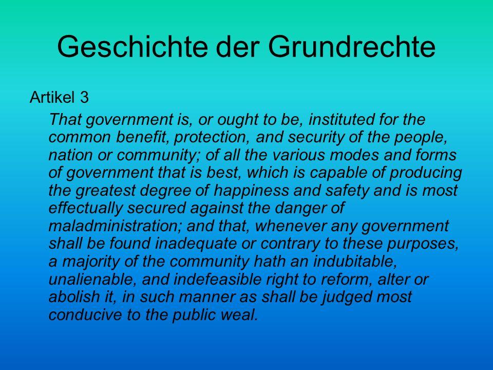 Geschichte der Grundrechte